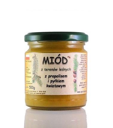 Propolis i pyłek w miodzie