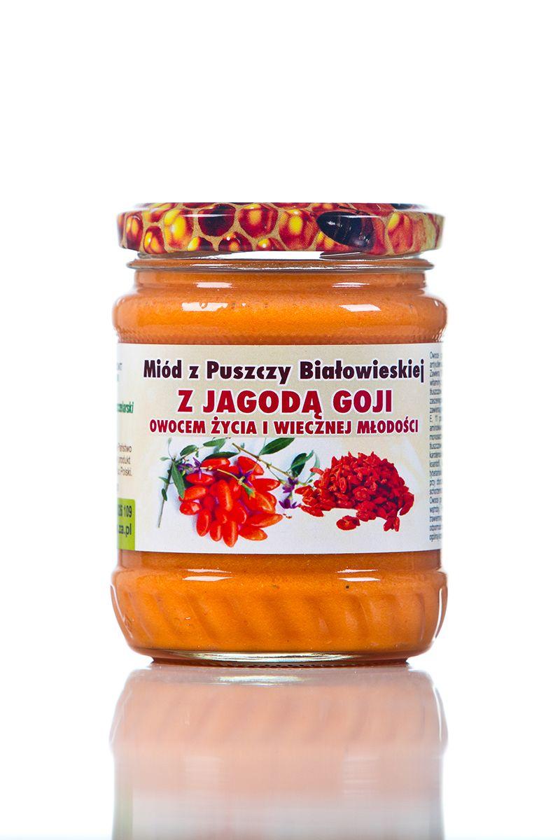 Miód z jagodą Goji