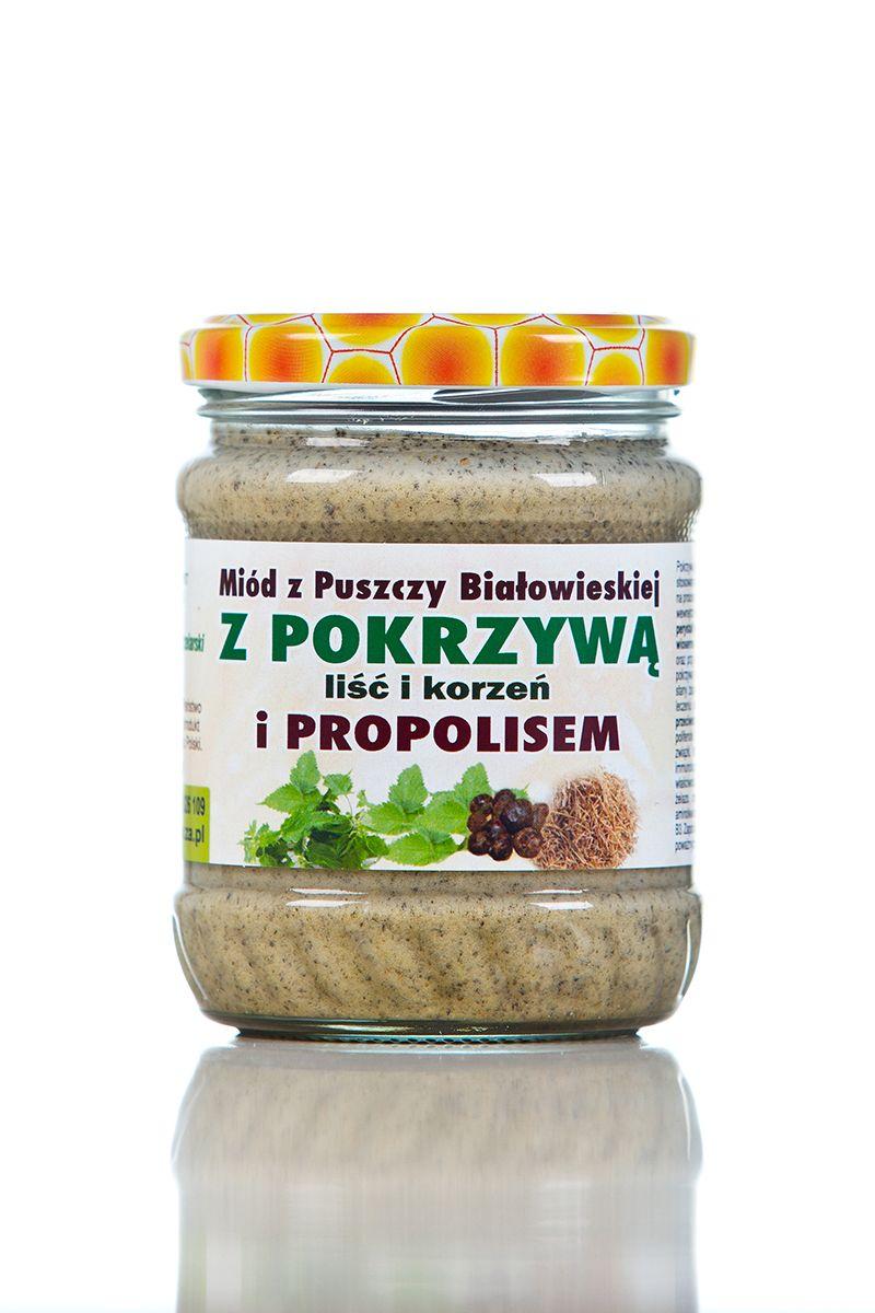 Miód z pokrzywą z propolisem